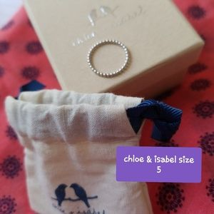 Chloe & Isabel Sterling Ring Size 5